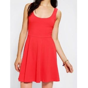 Urban outfitters Red cotton skater dress